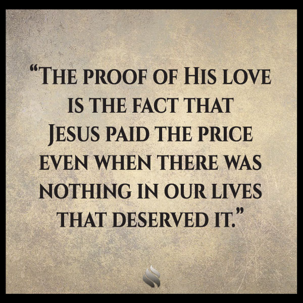 It is so hard to believe God can love me with all my faults.
