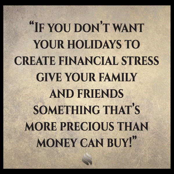 Christmas always creates financial pressure for my family. What can I do?
