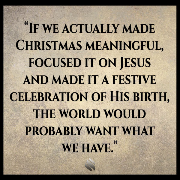 If we celebrate Christmas won't the world see us as compromising?
