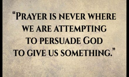 If everything is already done through Jesus what is the point of praying?
