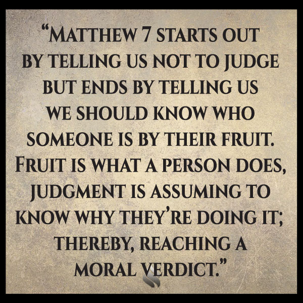 How do you know when you're in judgement or wisdom?