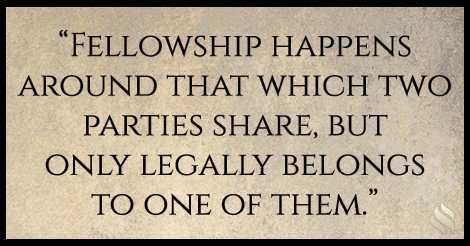 I want to better understand the concept of fellowship with God.