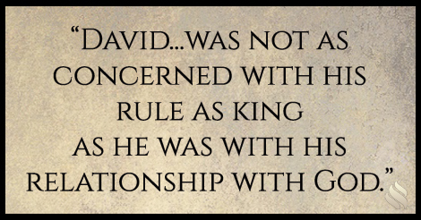 Why did David get to live his calling after his sin?