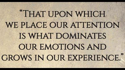 Where are you placing your attention?