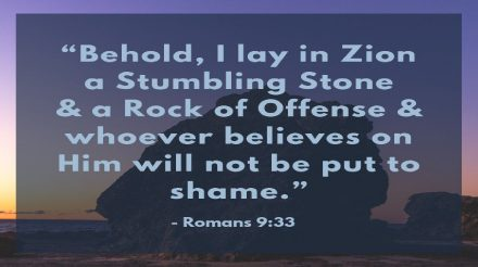 No More Stumbling